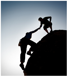Outdoor team building and leadership activities such as, rock climbing, help to bring corporate leaders and employees together.
